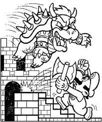 final battle mario dragon mario brothers coloring