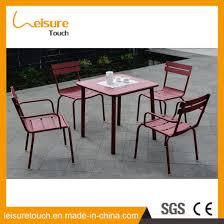 china simple design powder coated aluminum leisure coffee table set