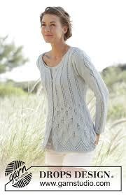 s sweater patterns mercy ylhäältä alas neulottu vartalonmyötäinen jakku