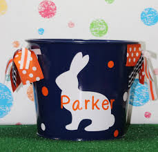 easter pail personalized easter basket monogrammed easter bunny easter