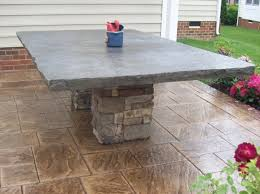 Concrete Patio Table Sted Concrete Patio Otg On The Go Custom Concrete