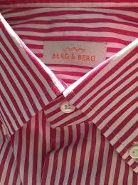 berg u0026 berg coral striped button down dress shirt size 38 15