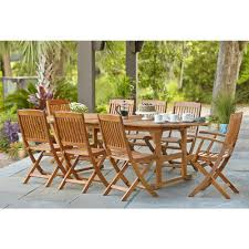 hampton bay adelaide eucalyptus 9 piece patio dining set set t1728 hampton bay adelaide eucalyptus 9 piece patio dining set