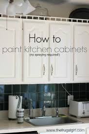 how to paint kitchen cabinets that are already painted how to paint kitchen cabinets the frugal