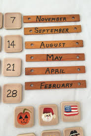vintage ceramic tile calendar pieces repurposing number tiles arts