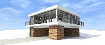 concrete block icf design modern house plans home design 116 1082
