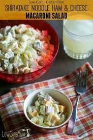 Noodle Salad Recipes Ham And Cheese Macaroni Salad Gluten Free Low Carb Yum