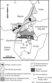 Map Of Cameroon Two Contrasting Iron Deposits In The Precambrian Mineral Belt Of