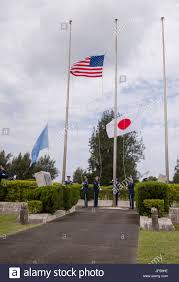 Honor Flag Kadena Honor Guard Members Raise The U S Japan And United