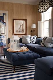 boston peacock blue sofa family room traditional with coral tufted