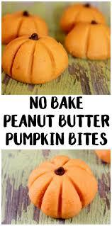 easy halloween recipe no bake peanut butter pumpkin bites not
