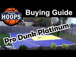 black friday basketball hoop pro dunk platinum basketball system