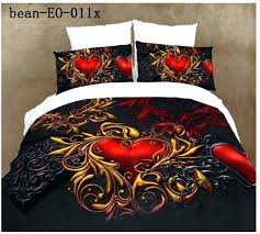 What Size Is A Single Duvet Black Double Duvet Cover Black And Red Single Duvet Covers 3d