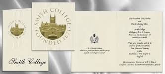college graduation invites smith college graduation announcements smith college graduation