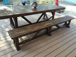 Outdoor Wood Bench Diy by Diy Extra Long Outdoor Wood Bench Hometalk