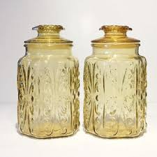 vintage kitchen canister best vintage kitchen canisters glass products on wanelo