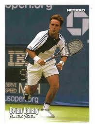 brian vahaly usa 34 netpro 1993 tennis trading card
