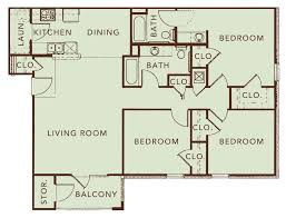 3 Bed 2 Bath Floor Plans by Park Trail Apartments Plans Park Trail Apartments