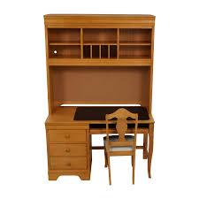 Used Computer Desk With Hutch 40 Stanley Furniture Stanley Furniture Custom Oak Wood Desk