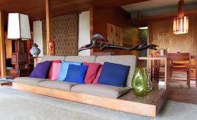 Mid Century Modern Living Room Furniture Raised Platform Living Room Google Search Couch Storage