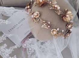 luxury hair accessories gold flower crown luxury hair extensions hair accessories