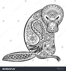 zentangle stylized platypus totem can be stock vector 317307764