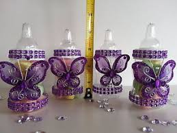 purple baby shower decorations 12 purple fillable butterfly bottles baby shower favors prizes