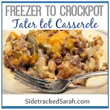 tater tot casserole in the slow cooker sidetracked sarah