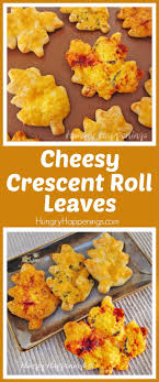cheesy crescent roll leaves for thanksgiving dinner