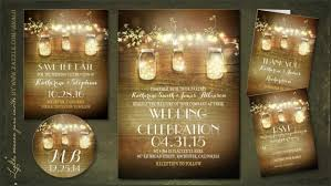 jar invitations wedding invitations jar theme 7639