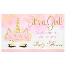 baby shower banners unicorn indoor outdoor banners zazzle
