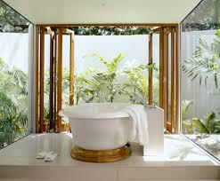bathroom tropical bathroom vanities cream granite wall wooden
