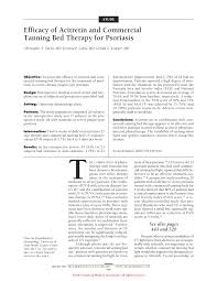 efficacy of acitretin and commercial tanning bed therapy for