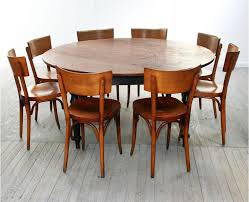 stylish round dining table for 8 people black room inside
