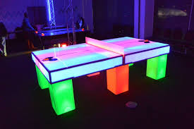 Ping Pong Table Rental Glowing Ping Pong Table Rental Rent Led Ping Pong Tables Az