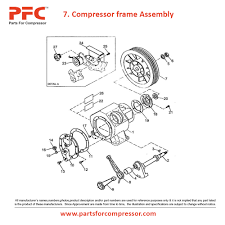 04 07 compressor frame assembly for 71t2 ir 71t2 parts