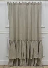 Curtains With Ruffles Linen Ruffle Shower Curtain Ruffle Shower Curtains Pottery And Barn
