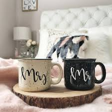 mr and mrs mugs mr and mrs engagement gift handlettered
