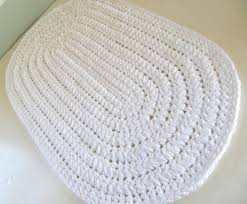 White Bathroom Rug Burgundy Oval Rug Thick N Plush Bath Mat Crocheted Cotton
