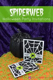 spiderweb halloween party invitations the inspiration vault