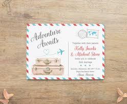 travel wedding destination wedding invitations world theme