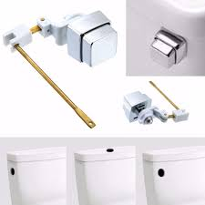toilet plumber tank lever flush handle square brass arm push