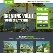 real estate landing page design templates for real estate agents