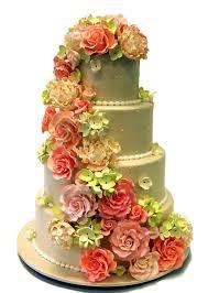 wedding cake flower cascading flower wedding cake