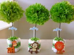 Centerpieces For Baby Showers by Baby Zoo Table Centerpieces My Baby Shower Gifts Pinterest