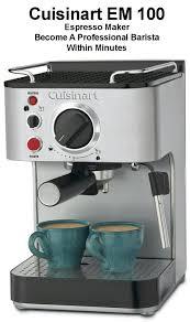 espresso maker cuisinart em 100 espresso maker review