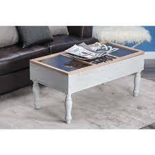 Glass And Wood Coffee Tables by American Home Wood And Glass Box Coffee Table 84268 The Home Depot