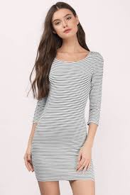 black and white dresses striped dresses black white striped dress blue grey tobi