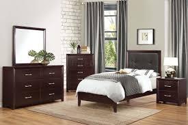 edina 2145 4pc kids bedroom set by homelegance in espresso