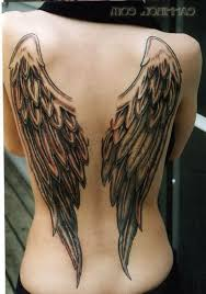 wings tattoos on back design pictures